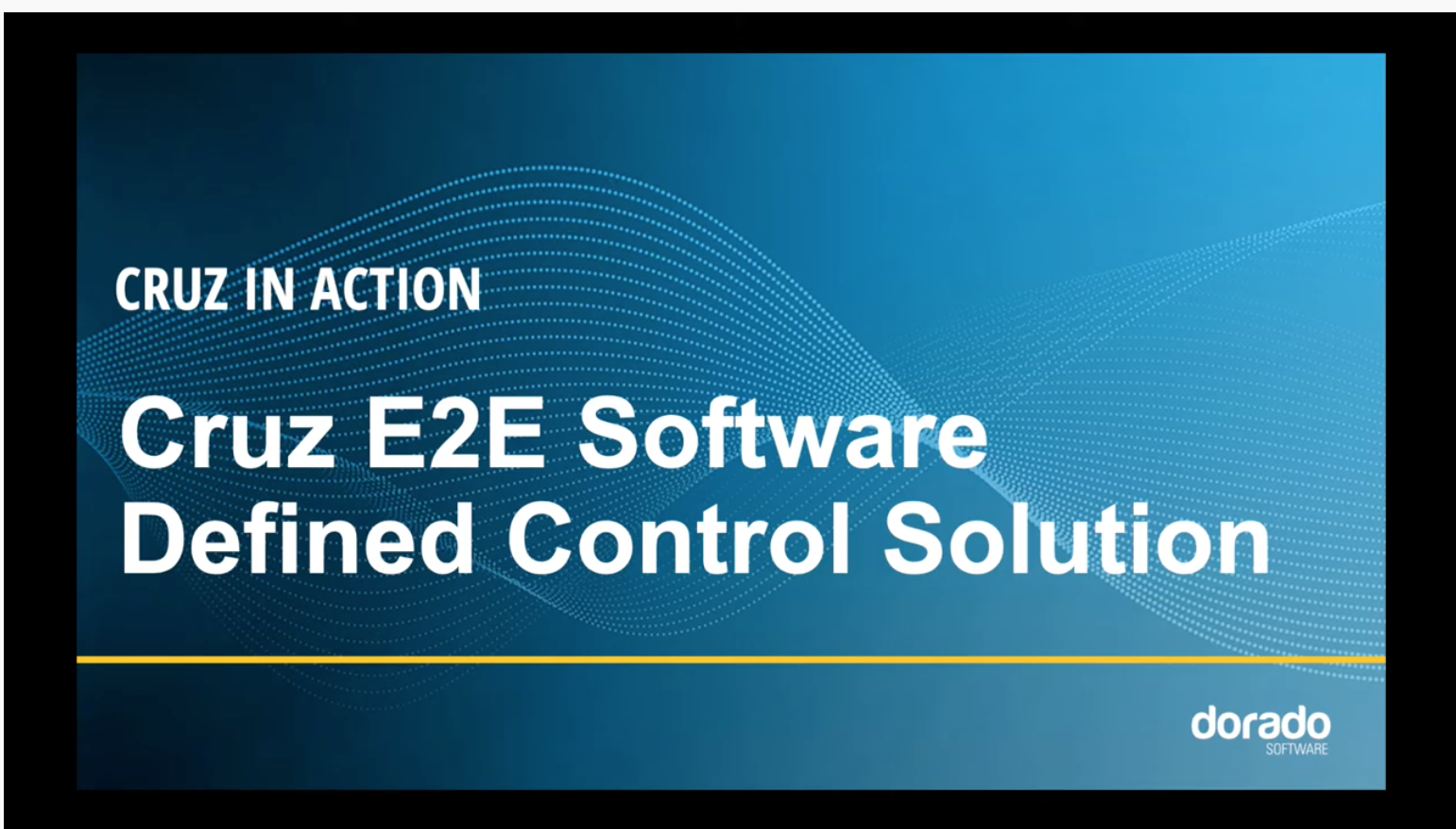 Cruz in Action: E2E SD Control